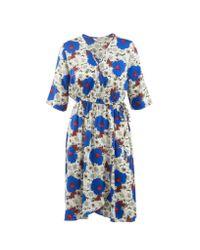 Tucker | Blue The Elbow Sleeve Wrap Dress | Lyst