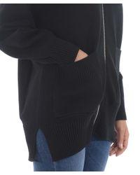 """Cardigan """"zipped"""" di KENZO in Black"""
