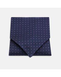 Turnbull & Asser - Blue Navy And Purple Spot Silk Ascot Tie for Men - Lyst