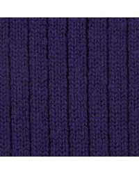 Turnbull & Asser - Purple Knitted Wool Socks for Men - Lyst
