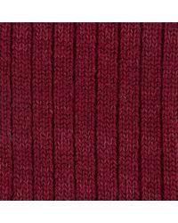 Turnbull & Asser | Red Knitted Wool Socks for Men | Lyst
