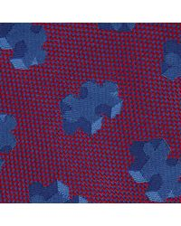 Turnbull & Asser - Purple 3d Puzzle Burgundy And Blue Silk Tie for Men - Lyst