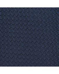 Turnbull & Asser - Dark Blue Grenadine Silk Tie for Men - Lyst