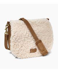 Ugg - Natural Women's Livy Sheepskin Saddle Bag - Lyst