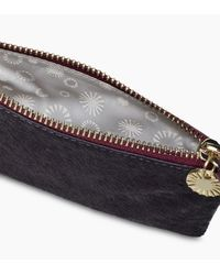 Ugg - Blue Women's Small Zip Pouch Cow Hair - Lyst