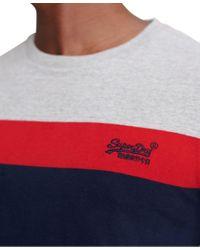 Superdry Gray Orange Label Chestband T-shirt for men