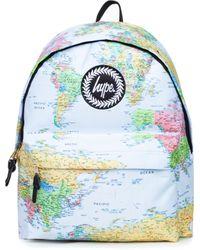 Hype Blue Maps Backpack Bag for men