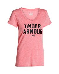 Under Armour Pink Women's Ua Charged Cotton® Tri-blend T-shirt