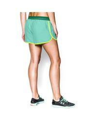 Under Armour Green Women's Ua Perfect Pace Short
