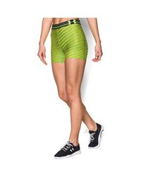 "Under Armour | Green Women's Ua Heatgear® Armour Printed 3"" Shorty 