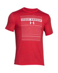 Under Armour Red Men's Ua Ugly Sweater T-shirt for men