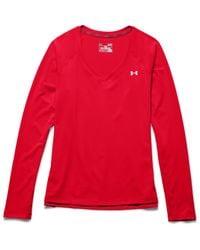 Under Armour - Red Women's Ua Heatgear® Armour Long Sleeve - Lyst