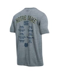 Under Armour | Gray Men's Notre Dame Ua Iconic 1966 Champ T-shirt for Men | Lyst