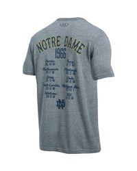 Under Armour - Gray Men's Notre Dame Ua Iconic 1966 Champ T-shirt for Men - Lyst