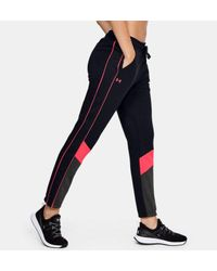 Pantalón UA Double Knit para mujer Under Armour de color Black
