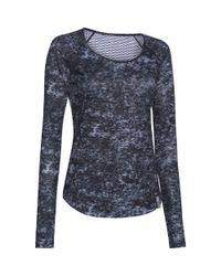Under Armour - Multicolor Women's Ua Fly-by Allover Printed Mesh Long Sleeve - Lyst