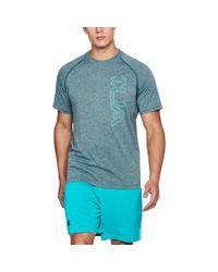 Under Armour - Blue Men's Ua Techtm T-shirt Graphic for Men - Lyst