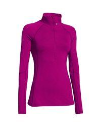 Under Armour Purple Women's Coldgear® Cozy 1/2 Zip