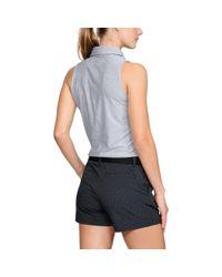 Under Armour Gray Women's Ua Zinger Sleeveless Polo