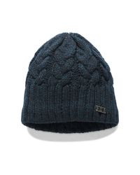 7f18d066d72a1 Under Armour Women s Ua Around Town Beanie in Blue - Lyst
