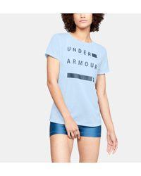 Under Armour Blue Damen UA WM T-Shirt mit Grafik, kurzärmlig