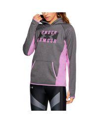 4a556550f Under Armour Women's Ua Storm Armour® Fleece Big Logo Hoodie in Gray ...