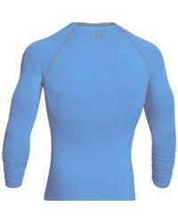 Under Armour - Blue Men's Ua Heatgear® Armour Long Sleeve Compression Shirt for Men - Lyst