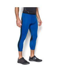 Under Armour - Blue Men's Heatgear® Supervent Compression 3⁄4 Leggings for Men - Lyst