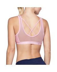 03e06b5e65a96 Under Armour Women s Ua Low Mesh Scoop Back Sports Bra in Pink - Lyst