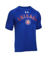 Under Armour - Blue Men's Chicago Cubs Ua Techtm T-shirt for Men - Lyst