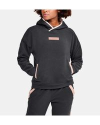 Under Armour Gray Damen UA Street To Summit Polarfleece-Hoodie