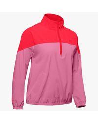 Anorak UA Woven para mujer Under Armour de color Pink