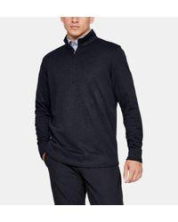 Under Armour Herren UA SweaterFleece mit 1⁄2 Zip Schwarz SM in Black für Herren