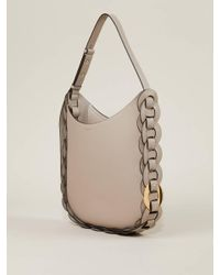 Chloé Gray Handtasche 'Darryl Hobo' Motty Grey