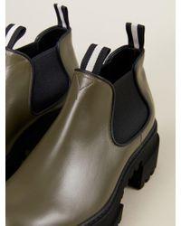 Bally Green Boots 'Giordy' mit breiter Gummisohle Khaki