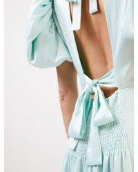 ROTATE BIRGER CHRISTENSEN Green Abendkleid 'Dawn' mit Bindedetail Mint