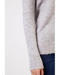 Allude Gray Baumwoll-Mohair-Pullover Hellgrau