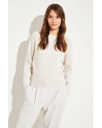 Brunello Cucinelli Natural Rippstrick Cashmere-Pullover Beige 100% Cashmere