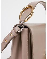 Chloé Natural Handtasche ' C Square Small' Motty Grey 100% Leder Futter: