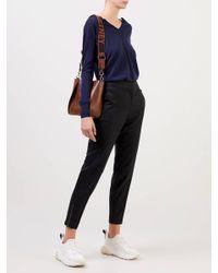Stella McCartney Blue Pullover mit V-Ausschnitt Blau