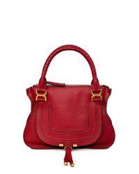 Chloé Handtasche 'Marcie Medium' Smoked Red
