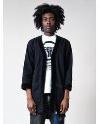 Neighborhood Black Gown I.d. C-coat for men