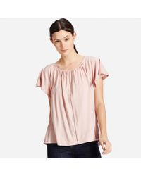 Uniqlo - Brown Women's Lattice T-shirt - Lyst