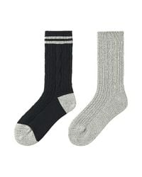 Uniqlo - Black Heattech Socks - 2 Pack (cable) for Men - Lyst