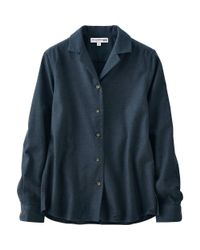Uniqlo - Blue Women Idlf Flannel Open Collar Long Sleeve Shirt - Lyst