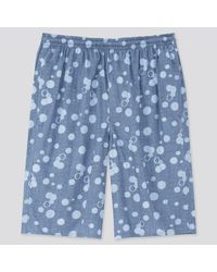 Pantalón Corto Confort Algodón Ligero Uniqlo de hombre de color Blue