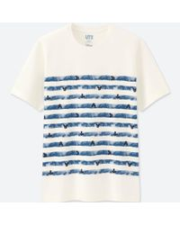 Uniqlo - White Men Mickey Blue Short Sleeve Graphic T-shirt for Men - Lyst