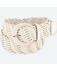 Uniqlo - White Wide Woven Belt - Lyst