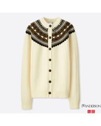 Uniqlo - Natural Women Jwa Fair Isle Crewneck Cardigan - Lyst