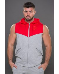 11 Degrees - Multicolor Performance Cut Off Zip Hoodie for Men - Lyst